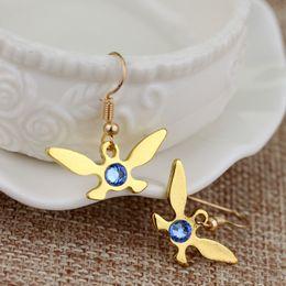 Wholesale Zelda Earrings - Antique Jewelry The Legend of Zelda Navi Earring The butterfly blue crystal jewelry Women earrings