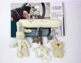 Wholesale Quality Wholesale Trailers - Wholesale- High quality baby plush toy bunny music bed trailer hanging rattles