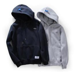 Wholesale Hooded Add Wool - Autumn winter European American popular logo man add wool fleece wind lovers loose hip-hop hoodie hooded Men women Sweatshirts