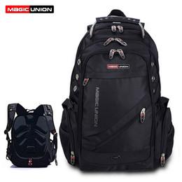 Wholesale magic cells - Wholesale- MAGIC UNION Men's Travel Bag Man Backpack Polyester Bags Waterproof Shoulder Bags Computer Packsack Brand Design Backpacks