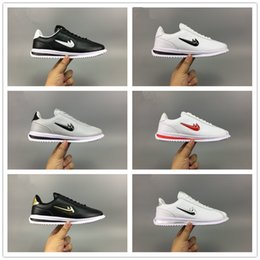 Wholesale Basics Shoes - 2017 New Arrival CORTEZ BASIC JEWEL QS TZ 45th Casual Running Shoes for Women Mens Top quality Leather Cortez Sports Sneakers Size 36-45