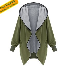 Wholesale Women Duster Coat - Wholesale- Womens Jackets And Coats 2016 Army Green Jacket Women Outerwear Women Bomber Jacket Trenchcoat Duster Coat
