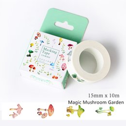 Wholesale Fresh Side - Wholesale- 2016 10 Meters Fresh Style Succulent Washi Tape Adhesive Tape DIY Scrapbooking Sticker Label Masking Tape