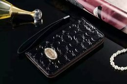 Wholesale Leather Folding Phone Wallet Case - Luxury Bling Diamond Wallet PU Leather Cell phone cases Rhinestone fold wallet Credit Card Slot Cover for iphone7 7plus 6 6Splus 5S Samsung