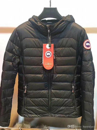 Wholesale Mens Embroidery Designs - High Quality CANADA New Winter women's Down puffer jacket Casual Brand Hoodies Down Parkas Warm Ski Mens Coats Black Red 706