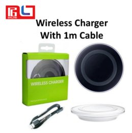 Wholesale faster apple - Qi Wireless Charger with 100cm cable not fast Charging For Samsung Galaxy S8 Note 8 Iphone 8 Iphone X With Package USB Cable