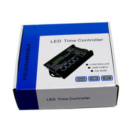 Wholesale Programmable Light Timers - time controller programmable time led controller tc420 aquarium lighting timer programmable dimmer timer with USB Cable, CD-ROM and software