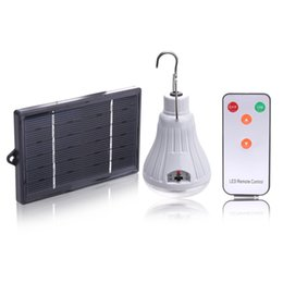 Wholesale Outdoor Remote Switch - Wholesale- Outdoor Indoor Dimmable 20LED Solar Light lamp H Rechargeable hooking Camp Garden travel Camping lighting with Remote Control