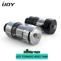 tanque de tornado Rebajas Original IJOY Tornado Hero Tank 5.2ml Top Relleno Sub Ohm Atomizer Kennedy-Style Ajustable Sistema de flujo de aire TRC 0.3Ohm Coils