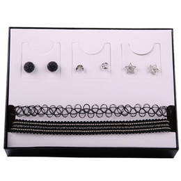Wholesale Pearl Diamond Bridal Earrings - Elegant Wedding Bridal Jewelry Prom Silver plated Rhinestone Crystal Pearl Birdal Jewelry New Choker Necklace and earring set