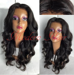 Wholesale Long Lace Front Heat Wig - Cheap Hair Glueless synthetic lace front wig Natural Black Long Super Body Wave Synthetic Wigs For Black Women Full Lace Heat Resistant