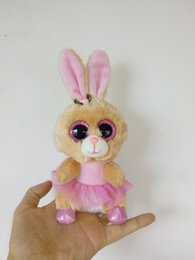 Wholesale Big Eyes Stuffed Animal Ty - Big Eyes Beanie Boos Kids Ty Stuffed Plush Toys Colorful Muslin Skirt Rabbit Bunny Lovely Birthday Gift Kawaii Cute Animals Doll