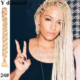 Wholesale Extension Blue - Braiding Hair Xpression Braids African Ultra Braid 82 inch 165G Synthetic Hair For Braids Blonde White  Blue  Green  Purple  Red Y demand