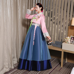 Wholesale Korean New Women Clothing - Korean traditional dress 2017 new arrivals hanbok korean traditional hanbok dress korean traditional clothing high quality