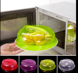 Wholesale Wholesale Vent Covers - Microwave Ventilated Plate Dish Food Bowl Cookware Cover lid Plate Cover Food Plate Vented Splatter Protector Kitchen Cooking Tool KKA1319