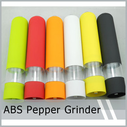 Wholesale Plastic Salt Pepper Grinders - Grinder Kitchen Tool ABS Sauce Electric Plastic Pepper Mill Salt Spice Assorted Colors New Free Shipping