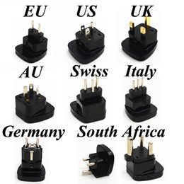 Wholesale Swiss Plug - Universal US EU AU UK Swiss Italy Germany Small Big South Africa AC Power Electrical Plug Adaptor Converter Travel Charger Socket
