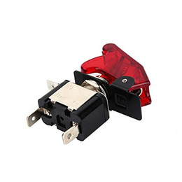 Wholesale Car Toggle Switch Cover - ZOOKOTO 12V 20A Cover LED Illuminated On off Control SPST Car Automotive Truck Boat ATV Airplane Toggle Flick Switch Button