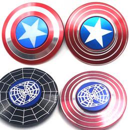 Wholesale Men Fantasies - The Avengers Captain America Shield Fidget Spinner Spider Man HandSpinner Hand Spinner EDC Hand Spinner Anxiety Stress Relief