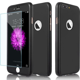 Wholesale Screen Protect Galaxy - 360 Degree Protect Case Cover with Tempered Glass Screen Protector Full Body Cover Case For iPhone 7 7s Plus Galaxy S8 Plus A510 J710