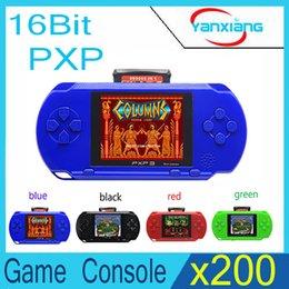 Wholesale 16 Bit Handheld Game Console - 200pcs PXP3 Game Console Handheld Portable 16 Bit Retro Video 150 Handheld Video Game Player YX-PXP3-1