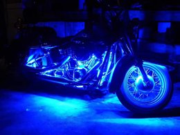 Wholesale Led Strip Lights Motorcycle - Motorcycle led lights- RGB LED-Control Car Light Atmosphere Strip Kits