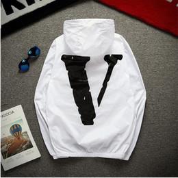 Wholesale Big Jackets For Men - anorak sunscreen jacket for men women y-3 college jacket windbreaker jaqueta masculina big V print rashguard bomber jacket