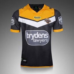 Wholesale Higher National - Free ship!NRL National Rugby League NRL Wests Tigers 2017 jersey High-temperature heat transfer printing jersey Road navy colorW