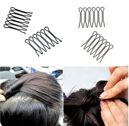 Wholesale Stretch Hair Clips - Mini fork U type clip Fine hair fixed plug before styling bangs can stretch and fix the hairpin