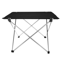 Wholesale Picnic Portable Table - Wholesale- Portable Aluminum Alloy Table Folding Desk Ultralight Mesa Plegable forCamping Hiking Picnic Practical Outdoor Camping Accessory