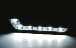 Wholesale Daytime Mercedes - Free Shipping LED Day light Audi, Mercedes-Benz, BMW, Sagitar and other 7-shaped 6 lights LED daytime running lights DRL