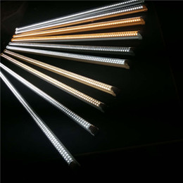 Wholesale Warm Cool Pure White Led - 25pcs box led tube lights tube V-Shaped Integration T8 Double row 2ft 3Ft 4ft 5ft 6ft 8ft Pure White 4000K Daylight 5000K