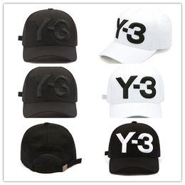 Wholesale Cotton Logo Hats - High Quality New Y-3 Dad Hat Big Bold Embroidered Logo Baseball Cap Adjustable Strapback Hats Y3