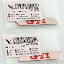 2019 emblèmes vw gti noir 2pcs GTI Logo Seat Lift Wrench Insert Garniture Siège Inserts Autocollant Pour Volkswagen VW GOLF MK5 MK6 GTI Touran 2006-2012