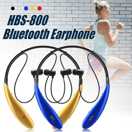 Wholesale Wireless Handsfree For Iphone - For HBS 800 Bluetooth Headphones Wireless Bluetooth Earphone sport bluetooth 4.0 Earphone Handsfree in-ear headphones No logo With Box