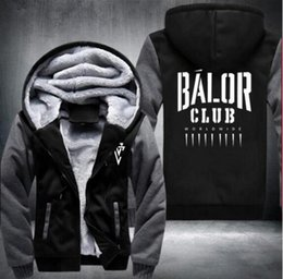 Wholesale Roman Letter - Hoodies & Sweatshirt Fashion Thicken Tops Wrestling Finn Balor Club Roman Reigns No One Is Safe Seth Rollins Dean Ambrose Zipper Coats