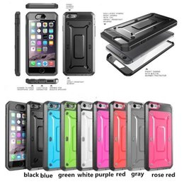 Wholesale Dual Layer Holster Case Galaxy - Rugged Hybrid Holster Cover with Built in Screen Protector For Samsung Galaxy S6 S7,Shockproof Dual Layer Silicone Case for Iphone 7 6splus
