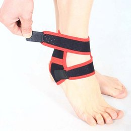 Wholesale Ankle Protection Football - Wholesale- 1Pc Sport Ankle Brace Protector Adjustable Ankle Support Pad Protection Elastic Brace Guard Support Football Basketball