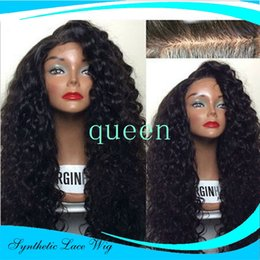 Wholesale Blonde Wig Bangs Long - Long Curly Synthetic Lace Front Wigs For Black Woman Cheap Synthetic Lace Front Wig With Bangs Heat Resistant Synthetic Wig