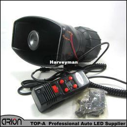 2019 radiadores de plástico Van Truck PA System 100W Loud Horn 12V Sirena Auto Max 300dB 5 Sonidos tono Envío gratis / Drop