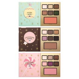 Wholesale Hotel Shadow - Eyeshadow Palette Grand Hotel Cafe Christmas Limited Edition Eye Shadow Palette 3 Styles MOCHA LATTE COOKIE Faced Cosmetics Women's Day Gift