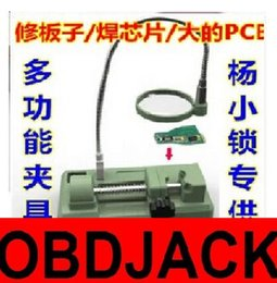 Wholesale Magnifier Pcb - Locksmith welding Table repair welding tool chip universal PCB Clamp with light and Magnifier glass