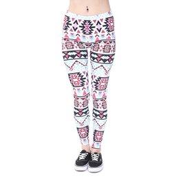 Wholesale Sportwear Yoga - Women Leggings Boho Sky Blue Graphic Print Girls Full Length Pants Spring Summer Autumn Skinny Stretchy Sportwear Yoga Trousers New (J40545)