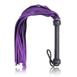 Wholesale Sm Spanking - sm whips leather bondage gear bdsm slut ass body spanking torture adult sex toys for women men purple GN296500119