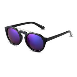 Wholesale Dark Lens Sports Sunglasses - outdoor sport sunglasses for women Round polarized sunglasses Dark blue lens black frame UV400 with Glasses cloth bag box sg13-1
