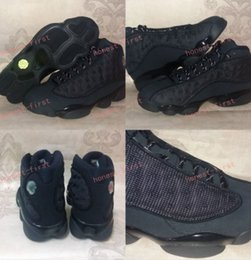 Wholesale Baseball Cat - New Retro 13 OG Black Cat Men Basketball Shoes 3M Reflect 13s Black Cat Athletics Sneakers High Quality Eur Size 41-47 us 8-13