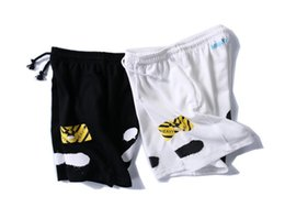 Wholesale Harems Men - Off White Shorts Summer Streetwear Religion Casual Off White Shorts Skateboard Harajuku Fashion Striped Black Off White Shorts
