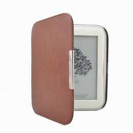 Wholesale Nook Leather - Wholesale-Magnet Closure PU Leather Slim Smart Cover Case For Barnes Noble Nook 4 Glowlight Ereader + Screen Protector + Stylus As Gift