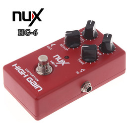 Wholesale Nux Guitar Effects - NUX HG-6 High Quality Guitar Distortion High Gain Electric Effect Pedal True Bypass Red Durable Guitar Parts & Accessories