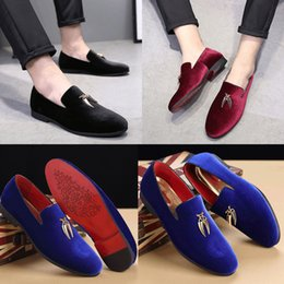 Wholesale Narrow Men Shoes - Men's Fashion Style Casual Pure Color Loafers PU Shoes Slip On Breathable Low Help Flat Shoes - Free Shippnig